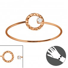 Round - 925 Sterling Silver Silver Heavy A4S22970
