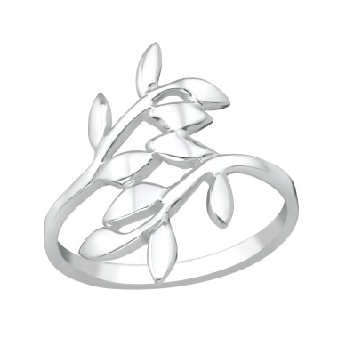 Olive Leaf - 925 Sterling Silver Basic Rings A4S38957