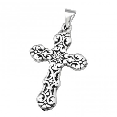 Electroform Cross Pendant - 925 Sterling Silver Silver Heavy A4S38958
