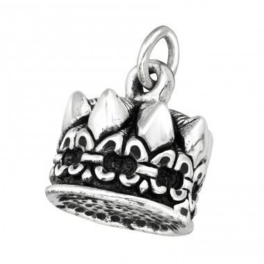 Electroform Crown Pendant - 925 Sterling Silver Silver Heavy A4S38959