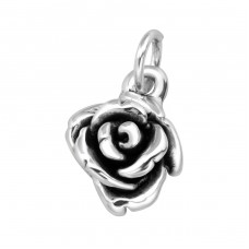 Electroform Rose Pendant - 925 Sterling Silver Silver Heavy A4S38960