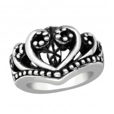 Electroform Heart Ring - 925 Sterling Silver Silver Heavy A4S38961