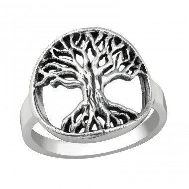 Tree Of Life - 925 Sterling Silver Silver Heavy A4S38963