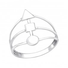 Geometric - 925 Sterling Silver Basic Rings A4S38981