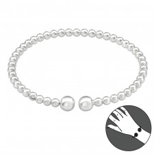 Bangles - 925 Sterling Silver Silver Heavy A4S39090