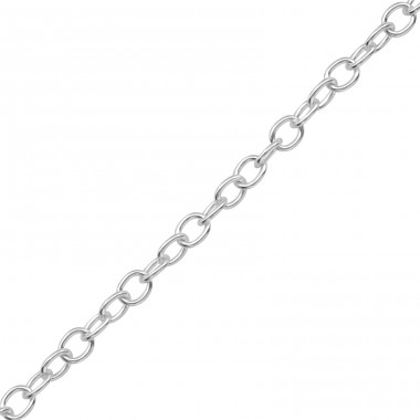 45cm Silver Cable Chain Necklace - 925 Sterling Silver Silver Heavy A4S39093