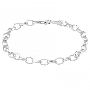 Cable Chain - 925 Sterling Silver Silver Heavy A4S39095