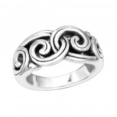 Wave - 925 Sterling Silver Silver Heavy A4S39098