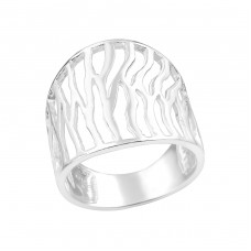Patterned - 925 Sterling Silver Silver Heavy A4S39101