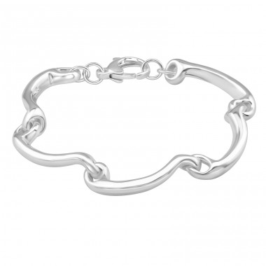 Wave - 925 Sterling Silver Silver Heavy A4S39104