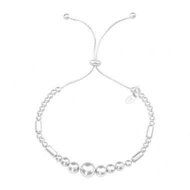 Geometric - 925 Sterling Silver Silver Heavy A4S39610