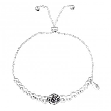 Rose - 925 Sterling Silver Silver Heavy A4S39613