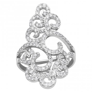 Flower - 925 Sterling Silver Silver Heavy A4S39897