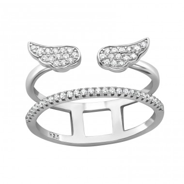 Wing - 925 Sterling Silver Silver Heavy A4S39900