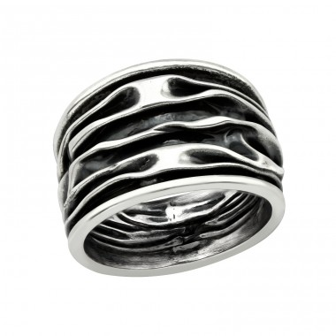 Wave - 925 Sterling Silver Silver Heavy A4S39921