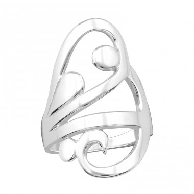 Wing - 925 Sterling Silver Silver Heavy A4S39923
