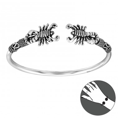 Scorpion - 925 Sterling Silver Silver Heavy A4S40310