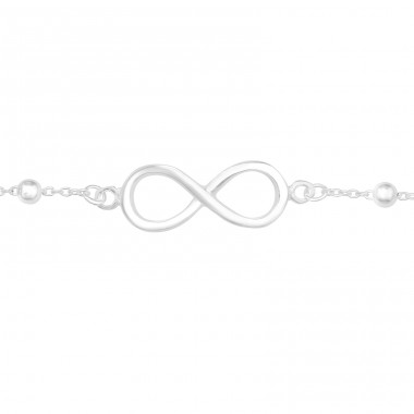 Infinity - 925 Sterling Silver Silver Heavy A4S40638