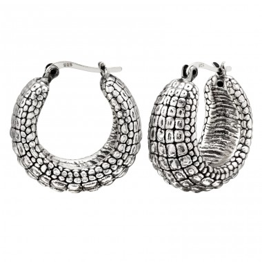 Vintage oxydized pangolin - 925 Sterling Silver Silver Heavy A4S41766
