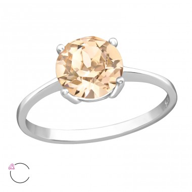 Solitaire - 925 Sterling Silver Rings with Zirconia stones A4S38272