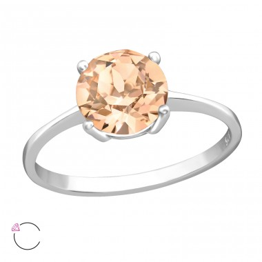 Solitaire with Swarovski® crystals - 925 Sterling Silver Swarovski Rings A4S38769