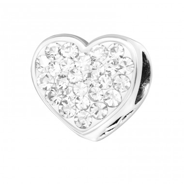 Heart Forever Friends - 925 Sterling Silver Beads with Zirconia or Crystal A4S10413