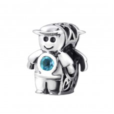 Boy - 925 Sterling Silver Beads with Zirconia or Crystal A4S22037