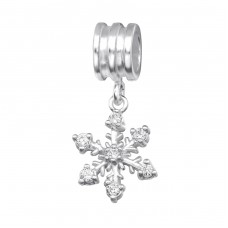 Snowflake - 925 Sterling Silver Beads with Zirconia or Crystal A4S28870
