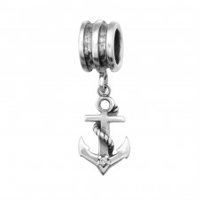 Anchor - 925 Sterling Silver Beads with Zirconia or Crystal A4S29222