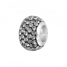 Round - 925 Sterling Silver Beads with Zirconia or Crystal A4S3711