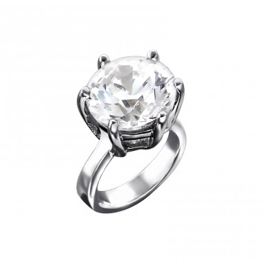 Ring - 925 Sterling Silver Beads with Zirconia or Crystal A4S5021