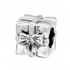 Gift Present - 925 Sterling Silver Beads with Zirconia or Crystal A4S8722