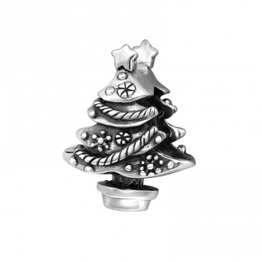 Christmas Tree - 925 Sterling Silver Beads without stones A4S10123