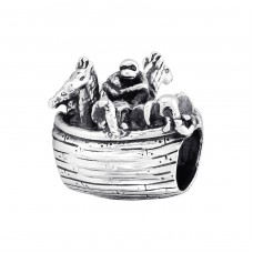 Animal Boat - 925 Sterling Silver Beads without stones A4S10216