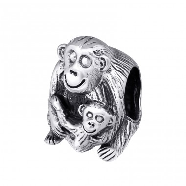 Monkey - 925 Sterling Silver Beads without stones A4S10220