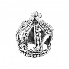 Crown - 925 Sterling Silver Beads without stones A4S10417