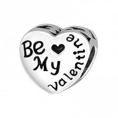 Heart Be My Valentine - 925 Sterling Silver Beads without stones A4S10612