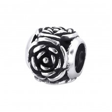 Rose - 925 Sterling Silver Beads without stones A4S10749