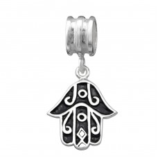 Hanging Hamsa Symbol - 925 Sterling Silver Beads without stones A4S10959