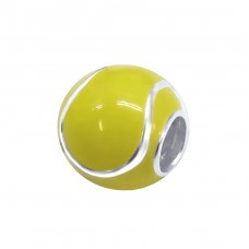 Tennis Ball - 925 Sterling Silver Beads without stones A4S11049