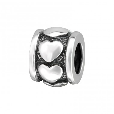 Heart - 925 Sterling Silver Beads without stones A4S11103