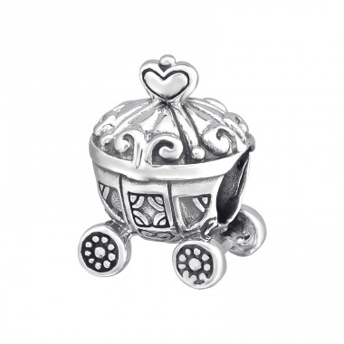Carriage - 925 Sterling Silver Beads without stones A4S11112
