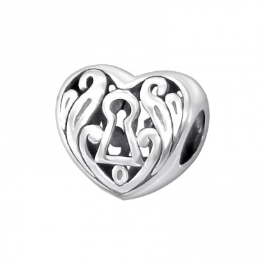 Heart - 925 Sterling Silver Beads without stones A4S11113