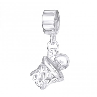 Hanging Basketball Net - 925 Sterling Silver Beads without stones A4S11176