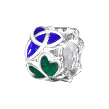 Clover Celtic - 925 Sterling Silver Beads without stones A4S11182