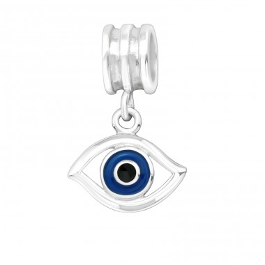 Hanging Evil Eye - 925 Sterling Silver Beads without stones A4S11429