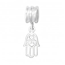 Hanging Hamsa Symbol - 925 Sterling Silver Beads without stones A4S11431