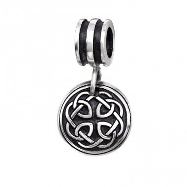 Triquetra - 925 Sterling Silver Beads without stones A4S11802