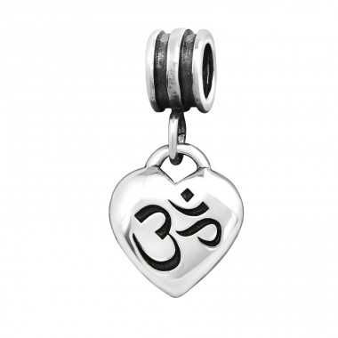 Om Symbol - 925 Sterling Silver Beads without stones A4S12377
