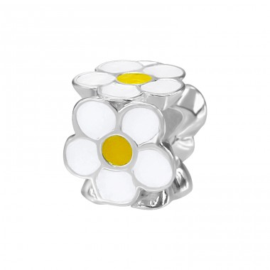 Flower - 925 Sterling Silver Beads without stones A4S12432